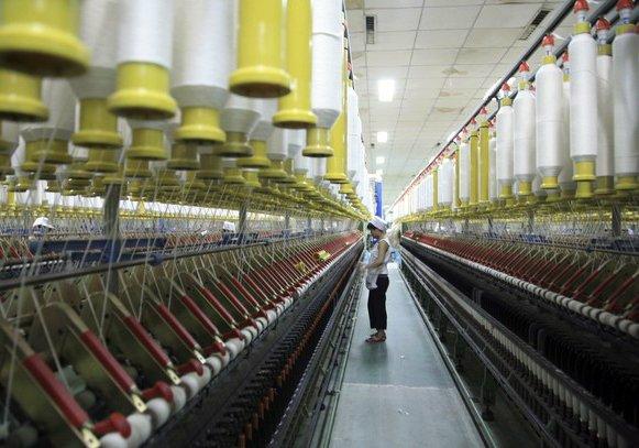 textilní výrobní průmysl v Číně