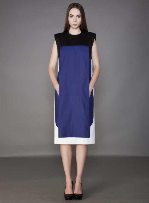 dámské černo-modré šaty Monika Krobová