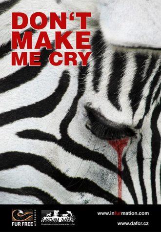 plakát Desingem proti kožešinám, autor Ondřej Stuchl