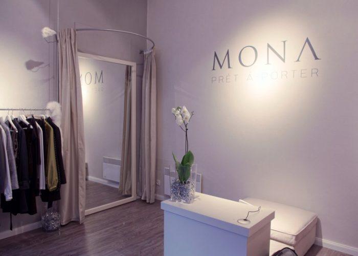interiér pražského obchodu MONA
