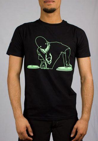 pánské černé triko s potiskem Alien DJ (£ 25)