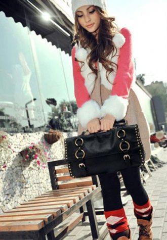 dámská černá kožená kabelka s kovovými ozdobami Whitefeather (€ 40.03)
