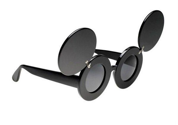 černé sluneční brýle Linda Farrow