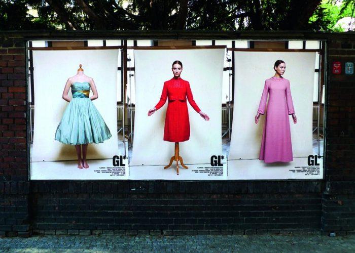 koncept a grafické řešení tiskovin výstavy Glamour - Dámská móda 1950 - 2010 (grafický designér Štěpán Malovec)