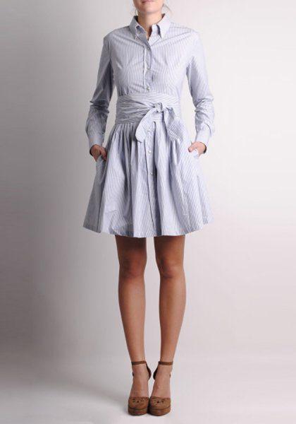 dámské bleděmodré šaty Thomsen Paris