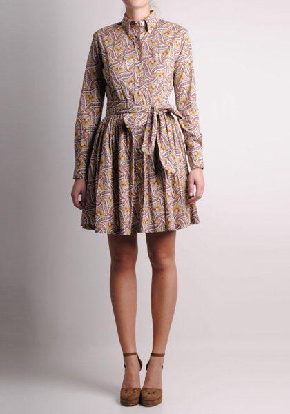 dámské hnědo-fialové šaty Thomsen Paris