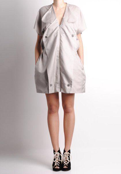 dámské světle béžové šaty Henrik Vibskov