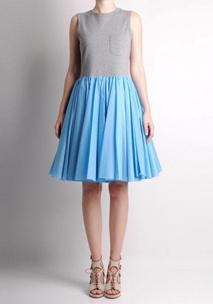 dámské šedo-modré šaty Karen Walker