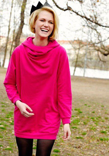 dámská růžová mikina ODIVI for Freshlabels