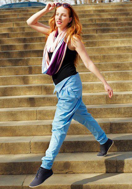 dámský černý top a modré kalhoty ODIVI for Freshlabels