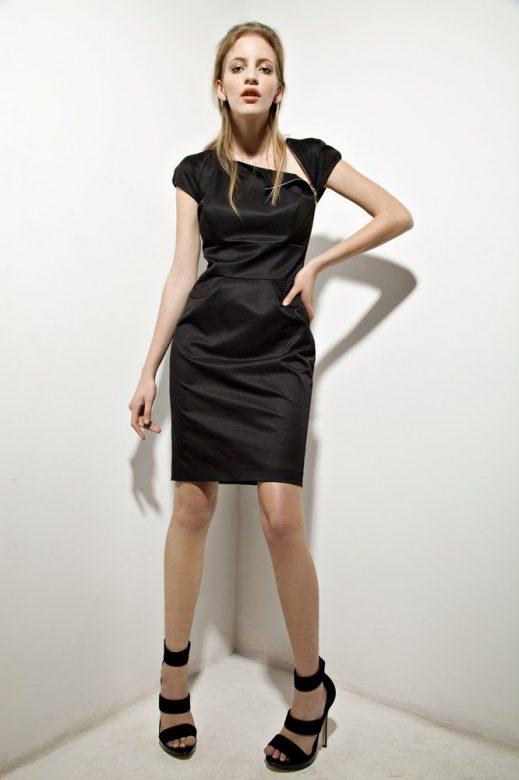 dámské černé šaty Tatiana