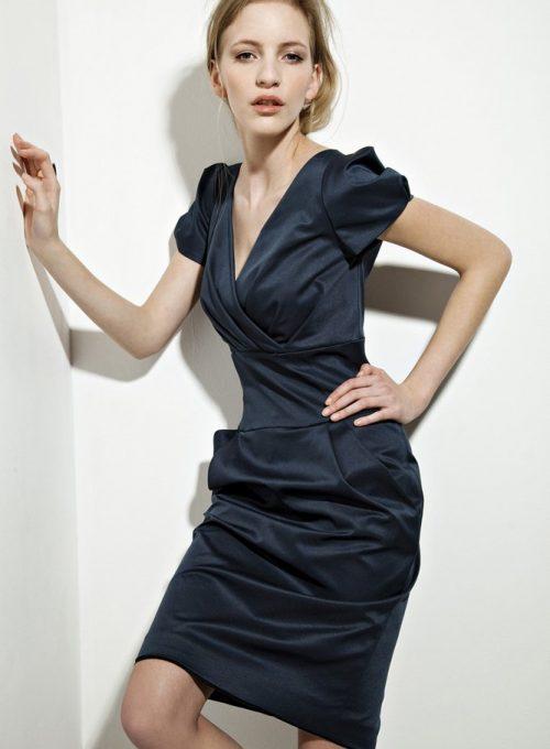 dámské tmavě modré šaty Tatiana