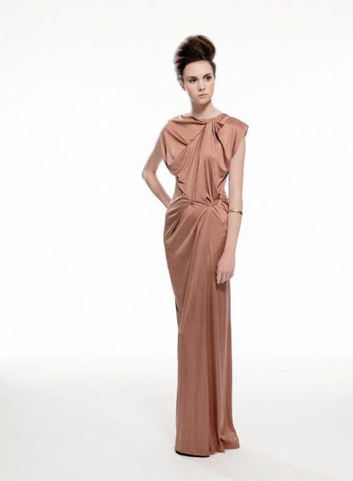 dámské béžové večení šaty Nicole Murray