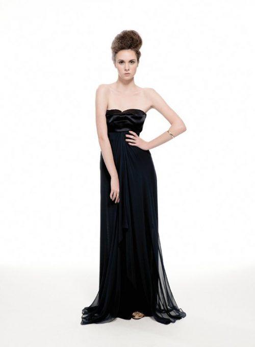 dámské černé večení šaty Nicole Murray