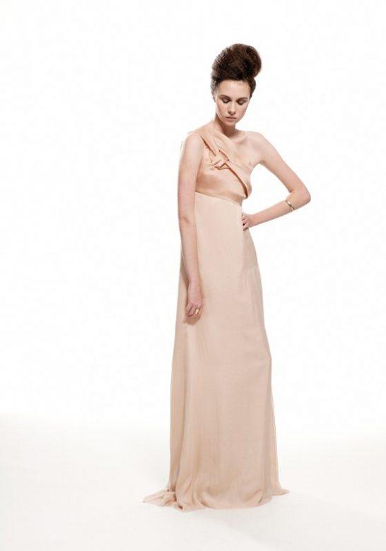 dámské krémové večení šaty Nicole Murray