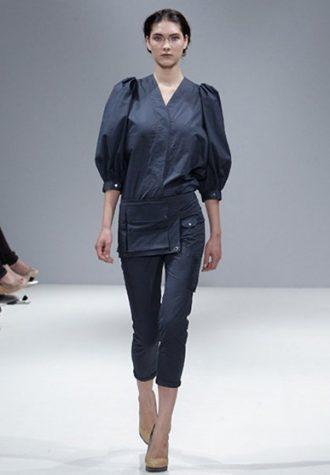 dámská tmavě modrá košile a kalhoty Eudon Choi