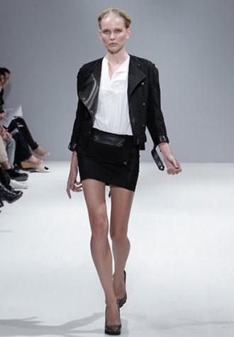 dámské černé sako a minisukně Eudon Choi