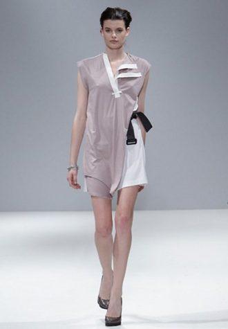 dámské světle růžové šaty Eudon Choi