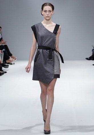 dámské šedo-černé šaty Eudon Choi