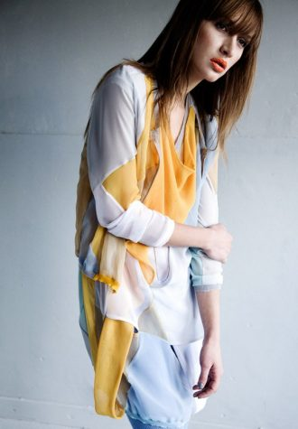 dámské žlutobílé šaty LEW