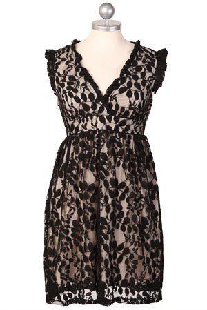 bílé šaty s černou krajkou ($ 38.99)