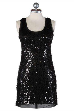 černé flitrové šaty ($ 44.99)