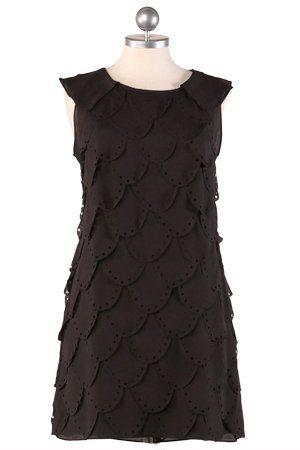 černé šupinově skládané šaty ($ 52.99)