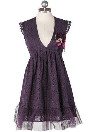 vínové krajkové šaty s tylovým volánkem ($ 50.99)