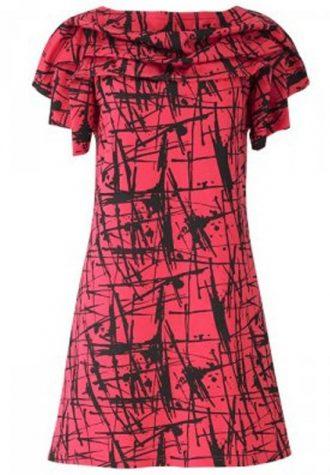 červené šaty People Tree s černými cákanci (£ 44.00)