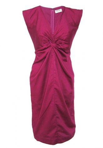 vínové šaty People Tree z organické bavlny (£ 65.00)