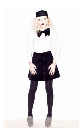 bílá halenka a černá sukně Vivetta
