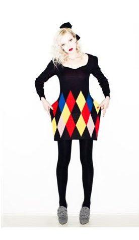 černé šaty Vivetta s károvým vzorem
