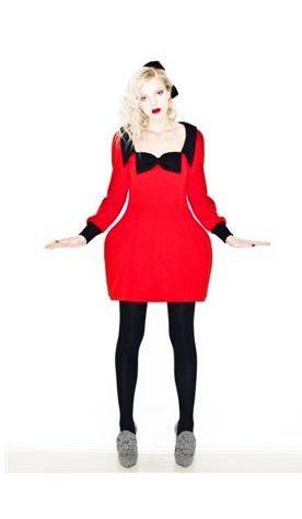 červené šaty Vivetta