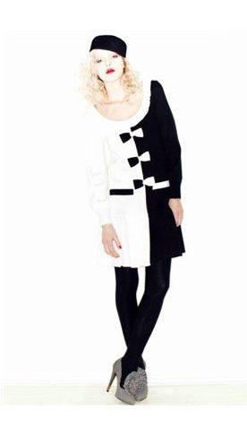 dámské černobílé šaty Vivetta