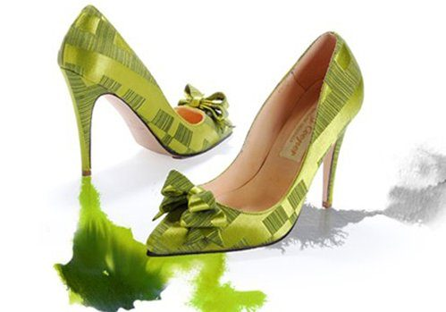 zelené lodičky s mašlí Ginnie (£ 269)