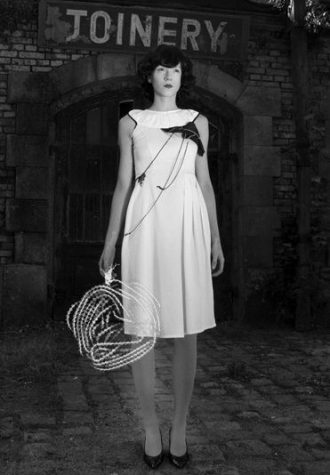 dámské bílé šaty Valevska