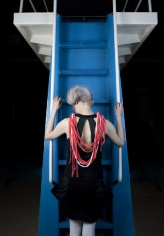 dámský červený náhrdelník blanq