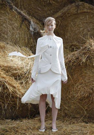 dámské bílé sako a sukně značky no.