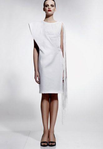 dámské bílé šaty Zdenka Imreczeová