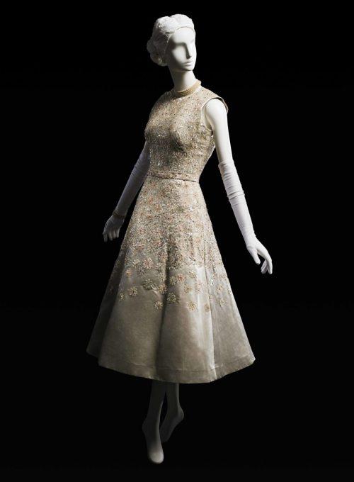 večerní šaty Main Bocher, 1954