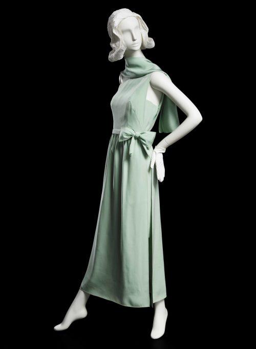 zelené večerní šaty Main Bocher, 1966