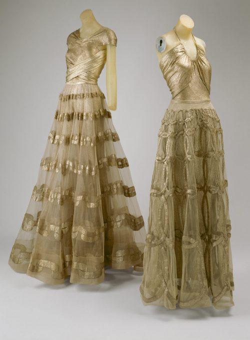 dámské zlaté šaty Madeleine Vionnet