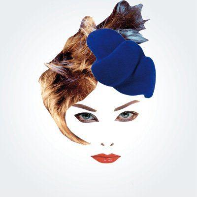 dámský modrý klobouček Rike Feurstein Podzim/Zima 09