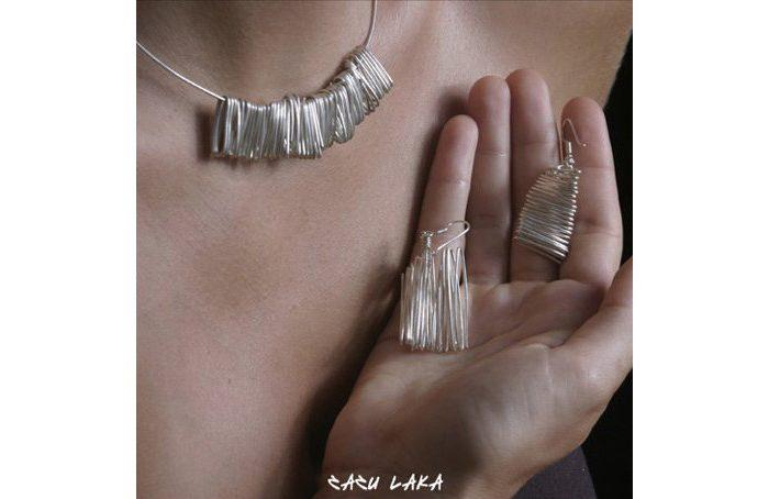 stříbrný komplet Zazu Laka