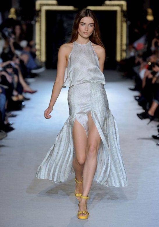 dámské saténové šaty Stella McCartney