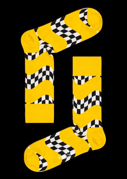 žluté ponožky se vzorem Happy Socks
