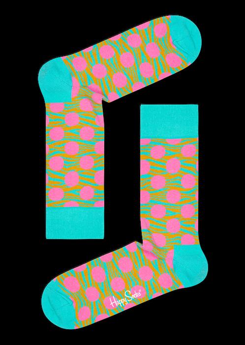 tyrkysové ponožky se vzorem Happy Socks