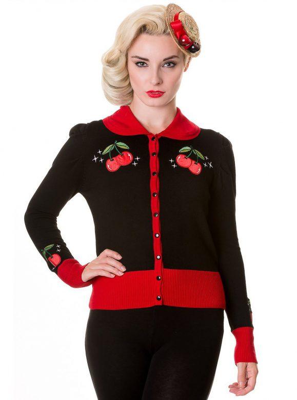 černý svetr s výšivkami Soho's