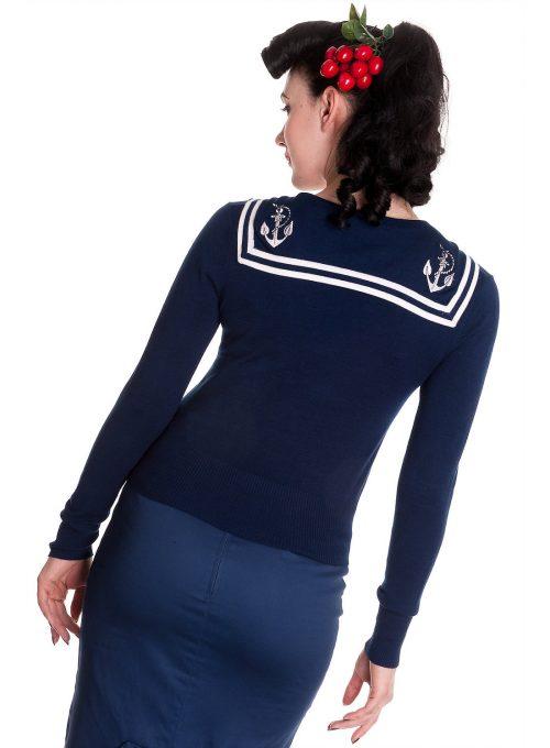 modrý svetr Soho's