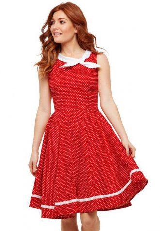dámské červené šaty se vzorem Joe Browns